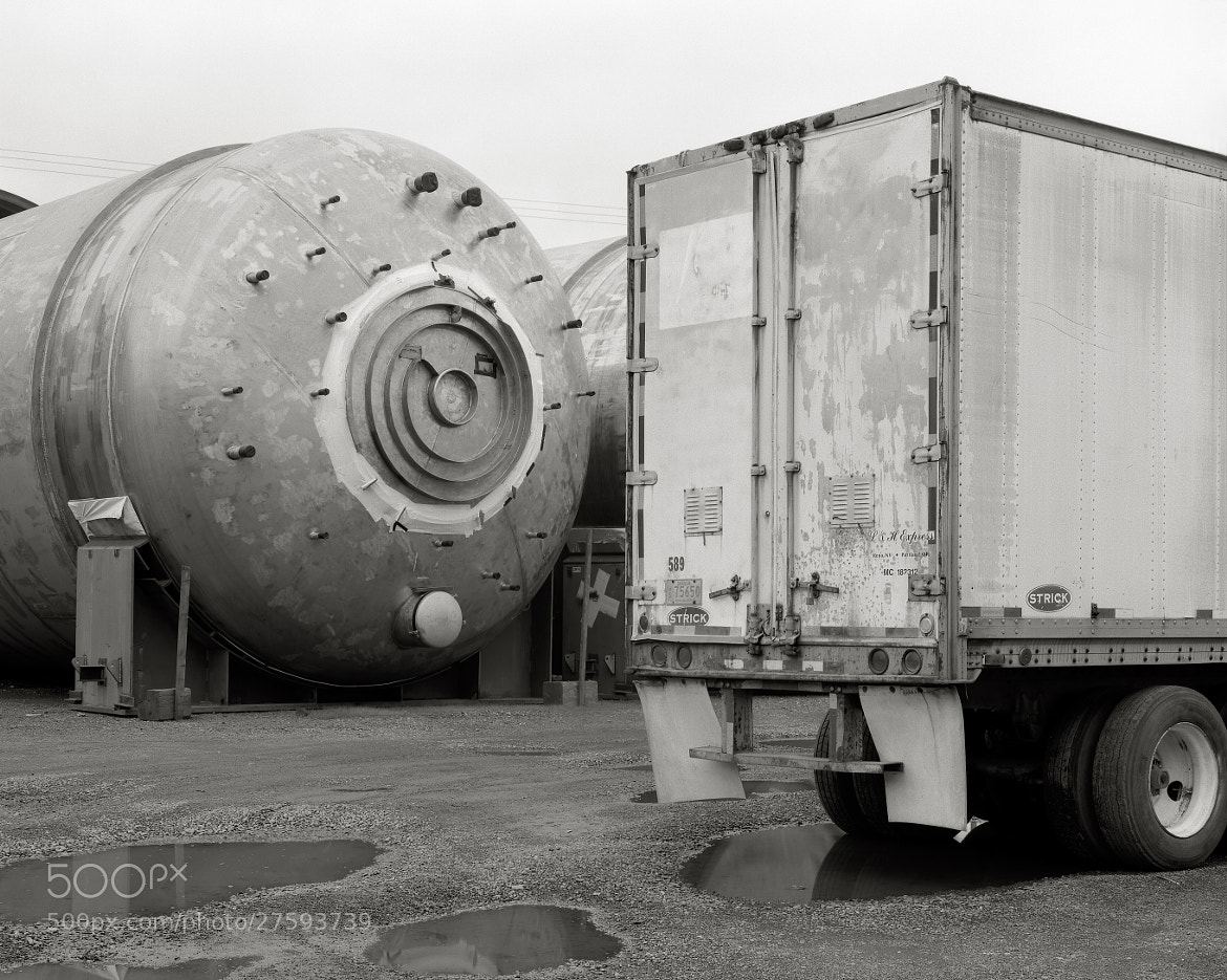 Photograph Recirculation Tank with Semi-Trailer, Portland by Austin Granger on 500px