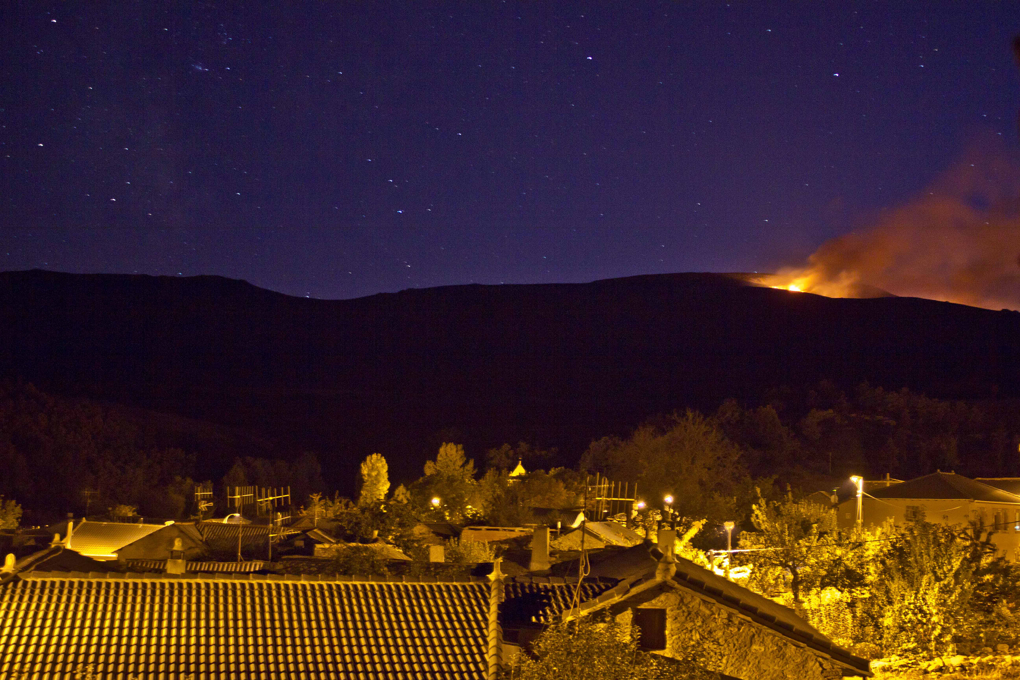 Photograph fire in the mountain by miguel gonzález on 500px