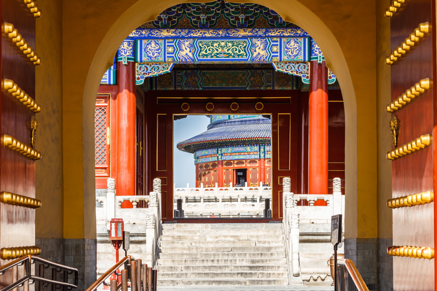 Entrance gate of Temple of Heaven in Beijing. by Loïc Lagarde on 500px.com