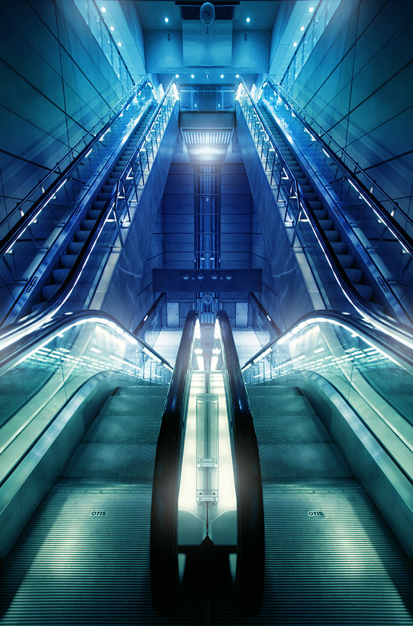 Photograph Escalators by Pierre Ekman on 500px