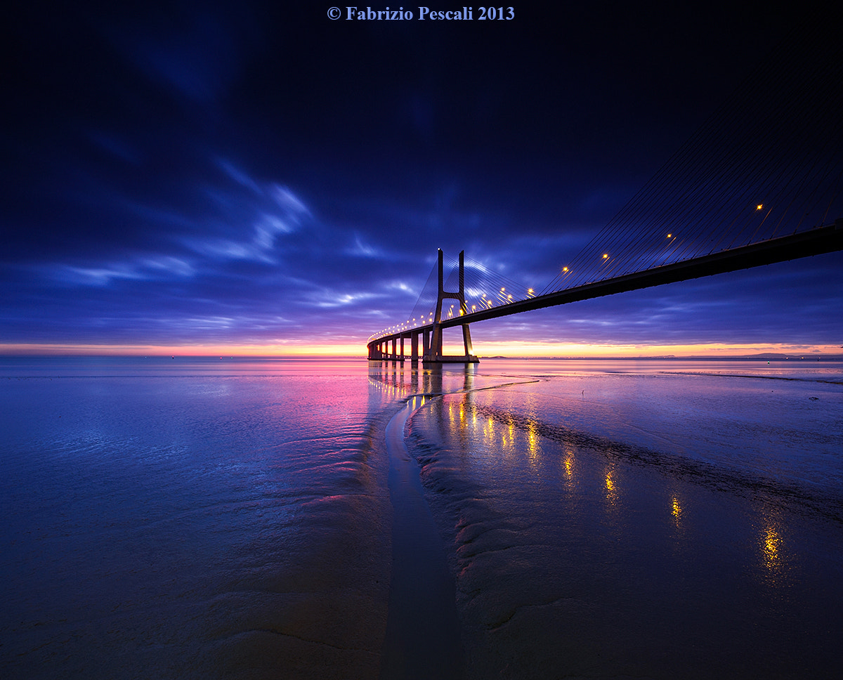 Photograph Vasco da Gama bridge, Lisbon, Portugal - www.fabriziopescali.com, fine art print by Fabrizio Pescali on 500px