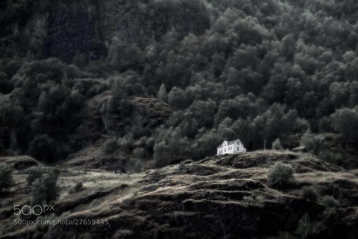 Photograph Norwegian House on a Hill - Reworking by Sam Bentley on 500px