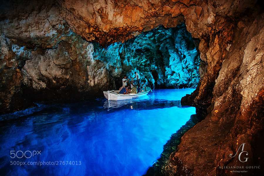 Even a few short minutes inside the Blue Cave on Biševo island is enough for a lasting impression. Depth of the sea is 16m.