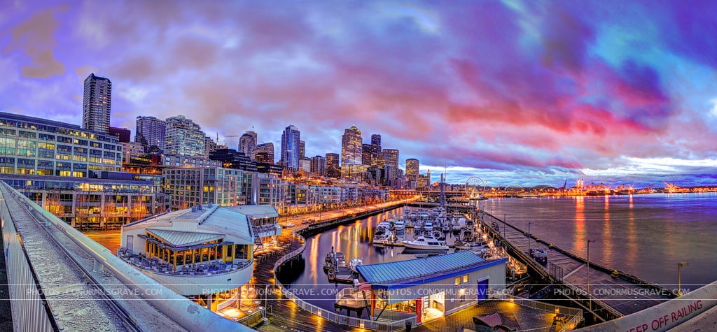 Photograph Seattle Waterfront Pre-Sunrise by Conor Musgrave on 500px