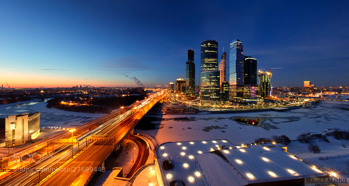 Photograph Night Busy Moscow by Sergey Alimov on 500px