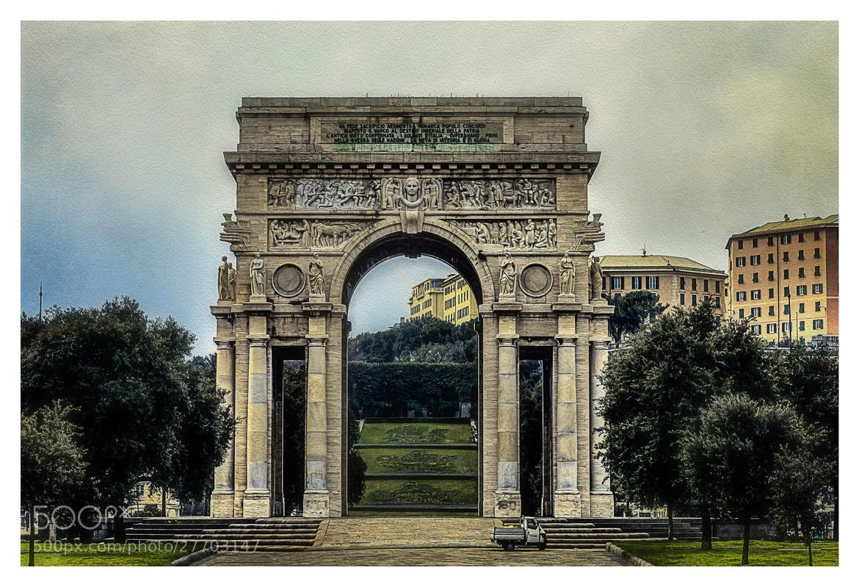 Photograph Arco della Vittoria (Genoa) by Juana Maria Ruiz on 500px