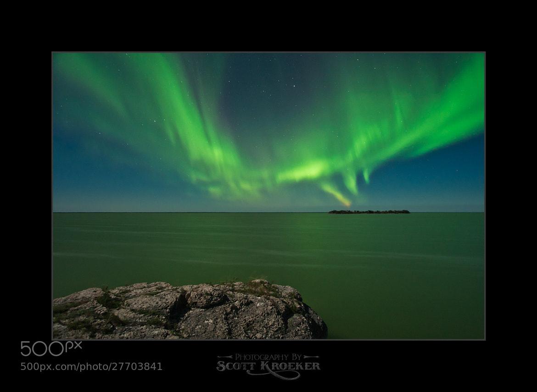 Photograph Steep Rock Aurora VIII by Scott Kroeker on 500px