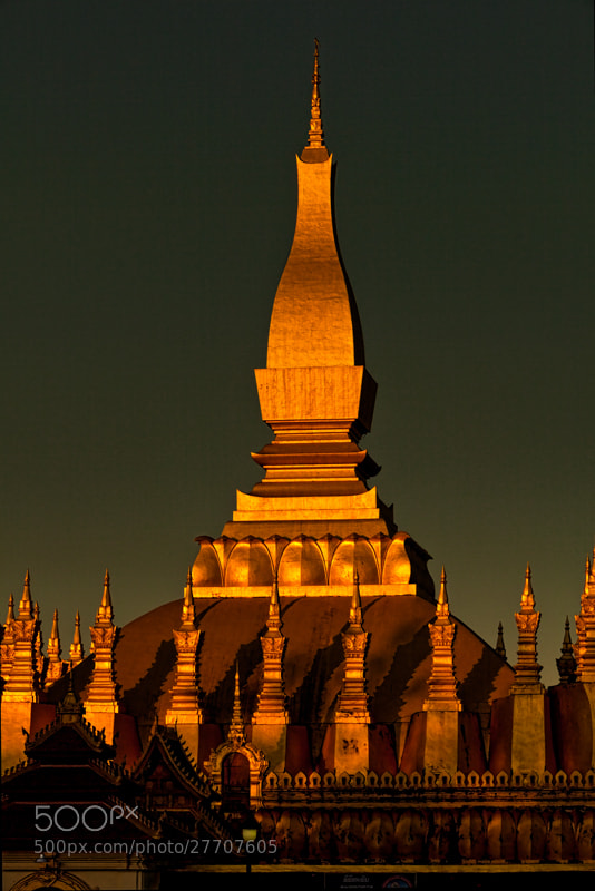 Photograph Last light on That Luang by Michel Latendresse on 500px