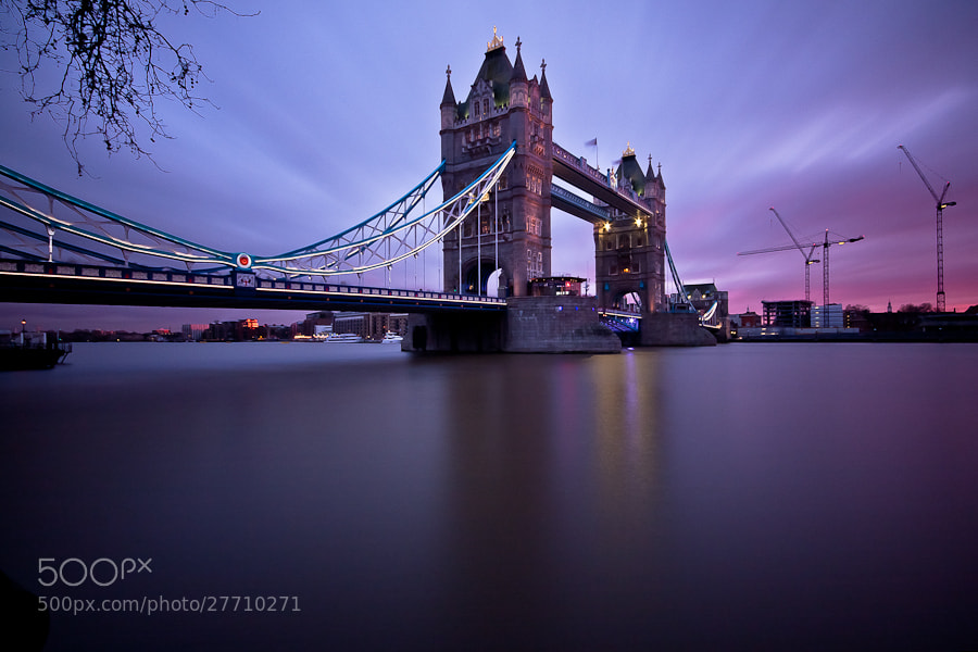 Photograph Tower Bridge at sunset by Karl Batchelor on 500px