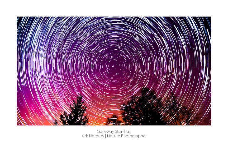 Photograph Galloway Star Trail by Kirk Norbury on 500px