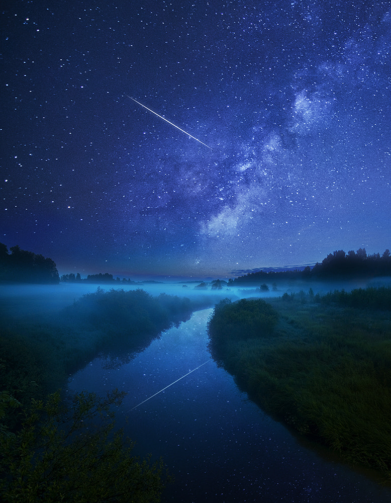 Photograph Night river by Mikko Lagerstedt on 500px