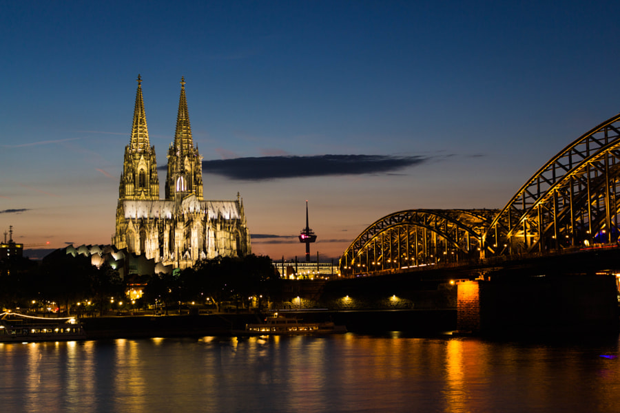 Cologne at night by Stephan Köninger on 500px.com