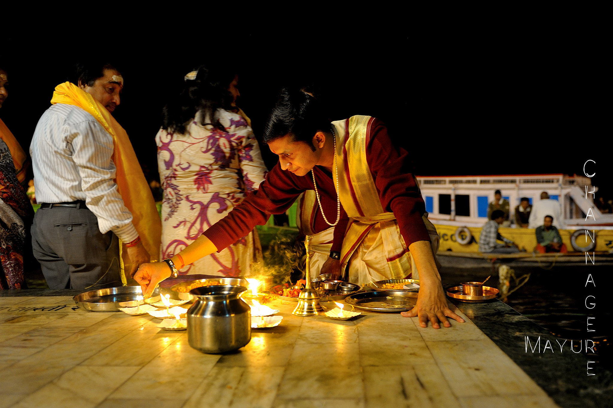 Photograph Ganga Puja - Varnasi 2013 by Mayur Channagere on 500px