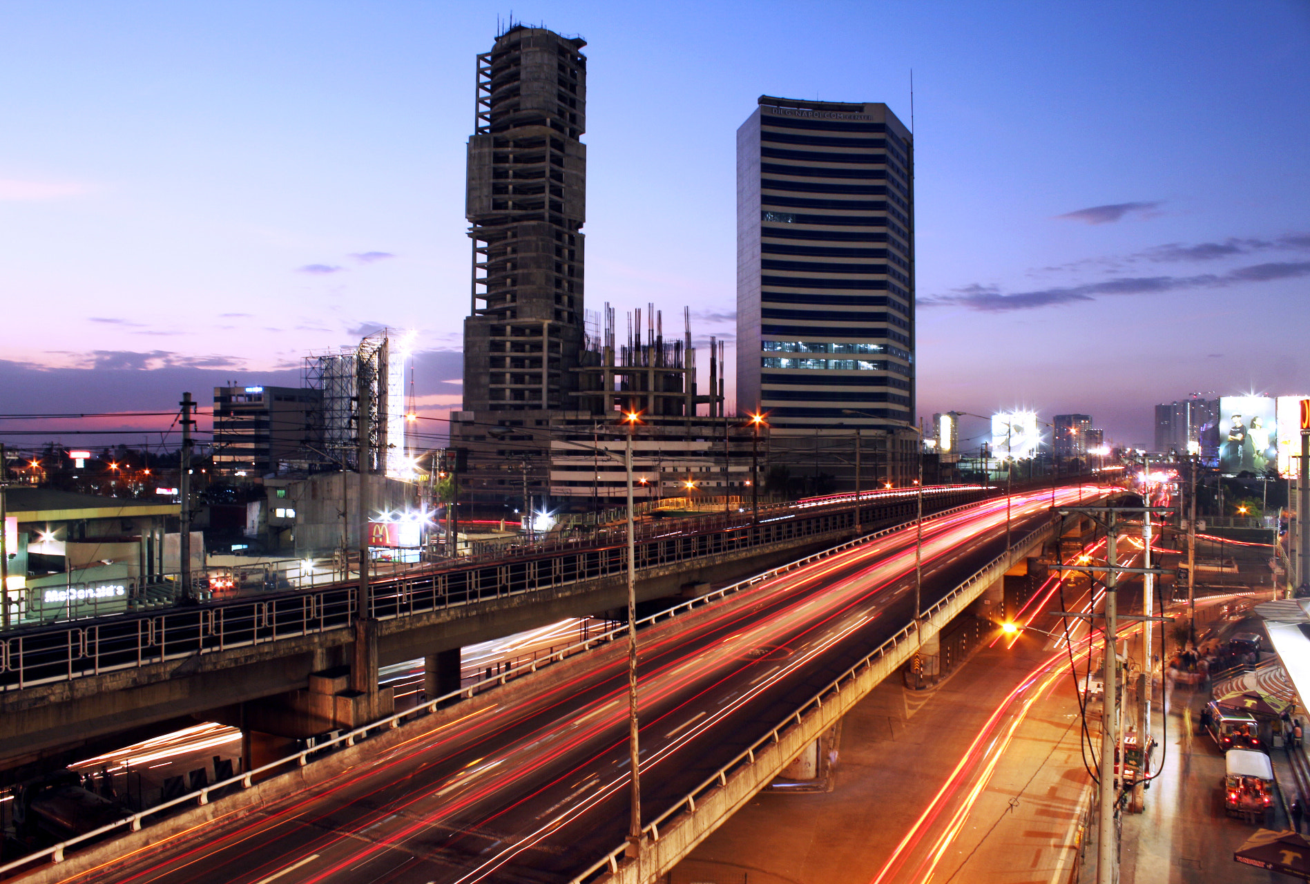 Photograph Night in Edsa by Sac Ongpauco on 500px