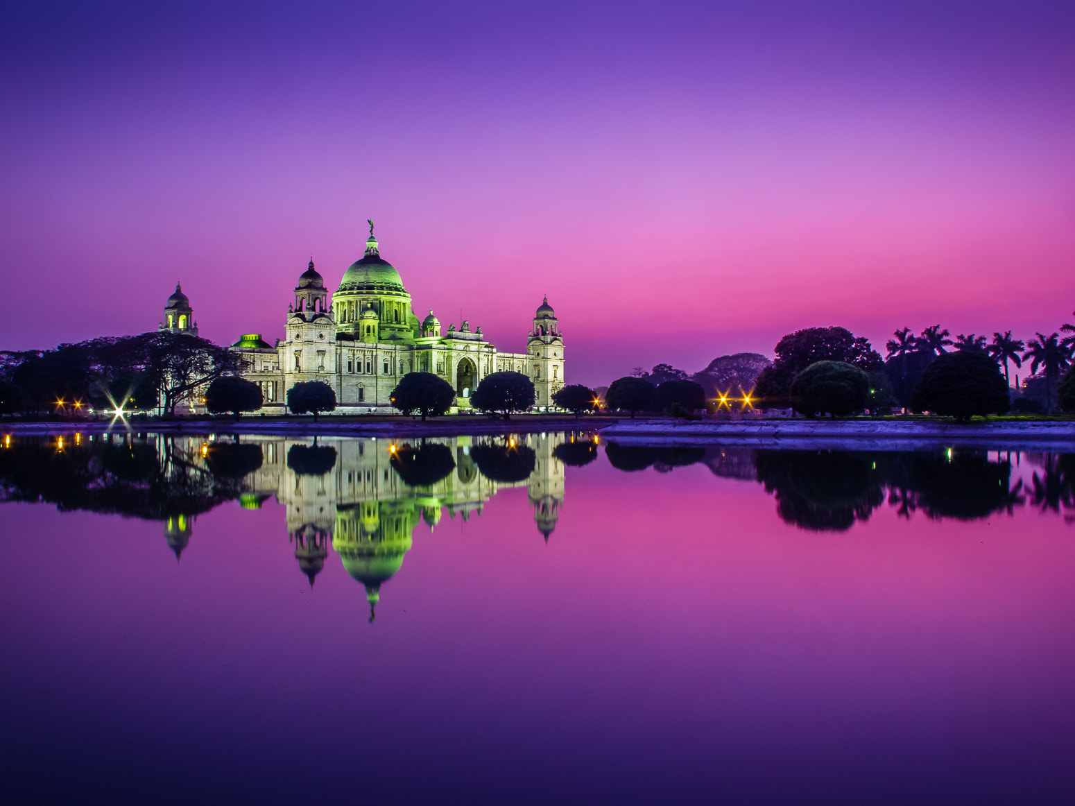 Photograph Magic Hour at The Victoria Memorial by Giscard Matar on 500px