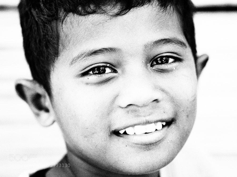 Orang asli kid in Ulu Tamu, Selangor, Malaysia.