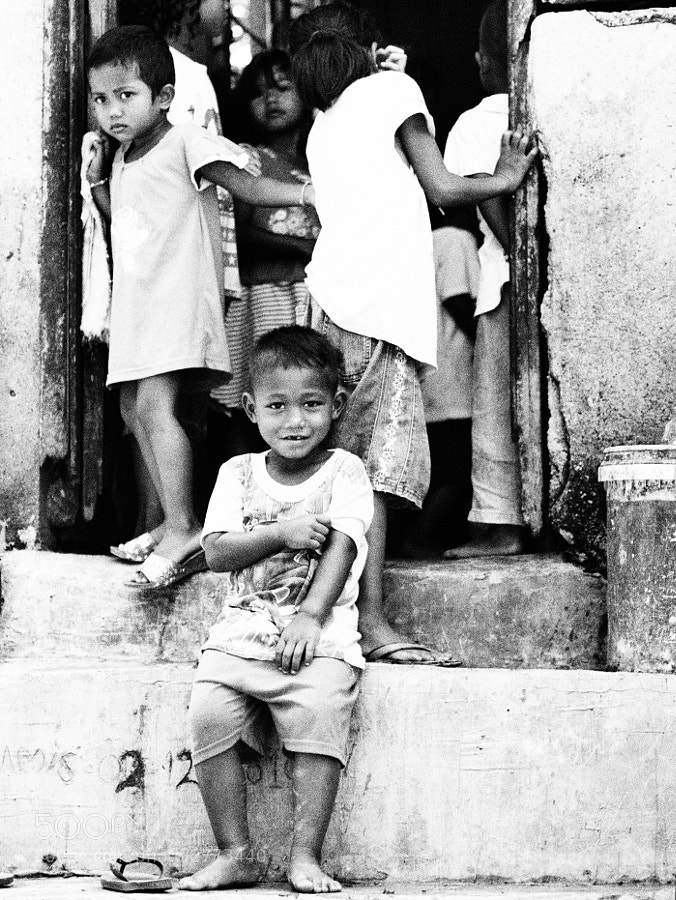 Orang Asli (native aborigines) kid in Ulu Tamu, Selangor, Malaysia