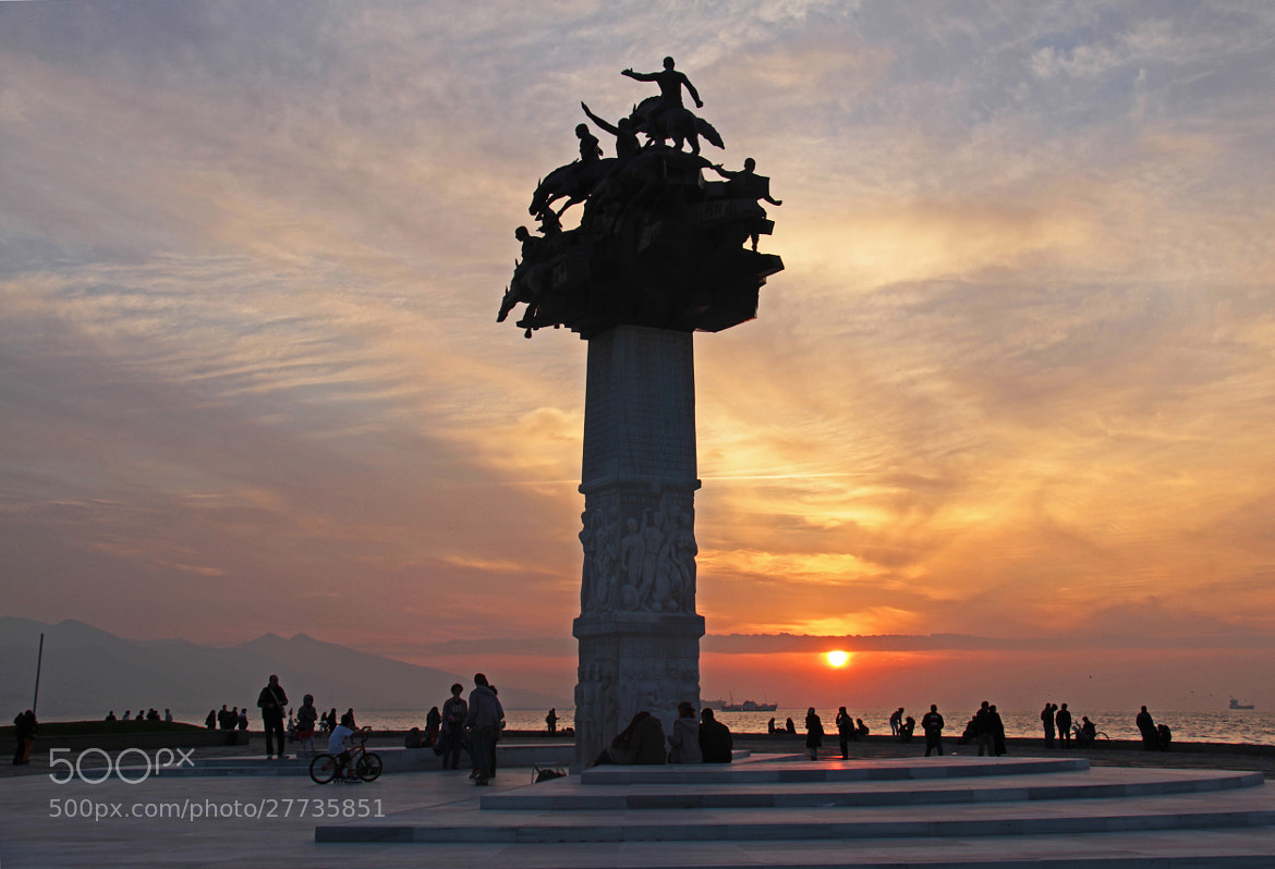 Photograph Sunset at Gündoğdu Square by Hakki Arican on 500px