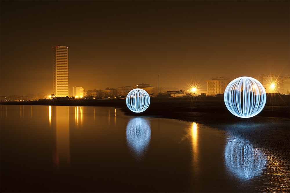 Photograph Led Sphere - Lights and Skyscraper by Mattia Zavalloni on 500px