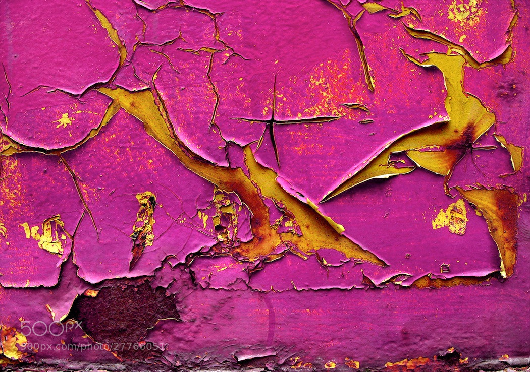 Photograph pink paint peeling by Mister Mark  on 500px