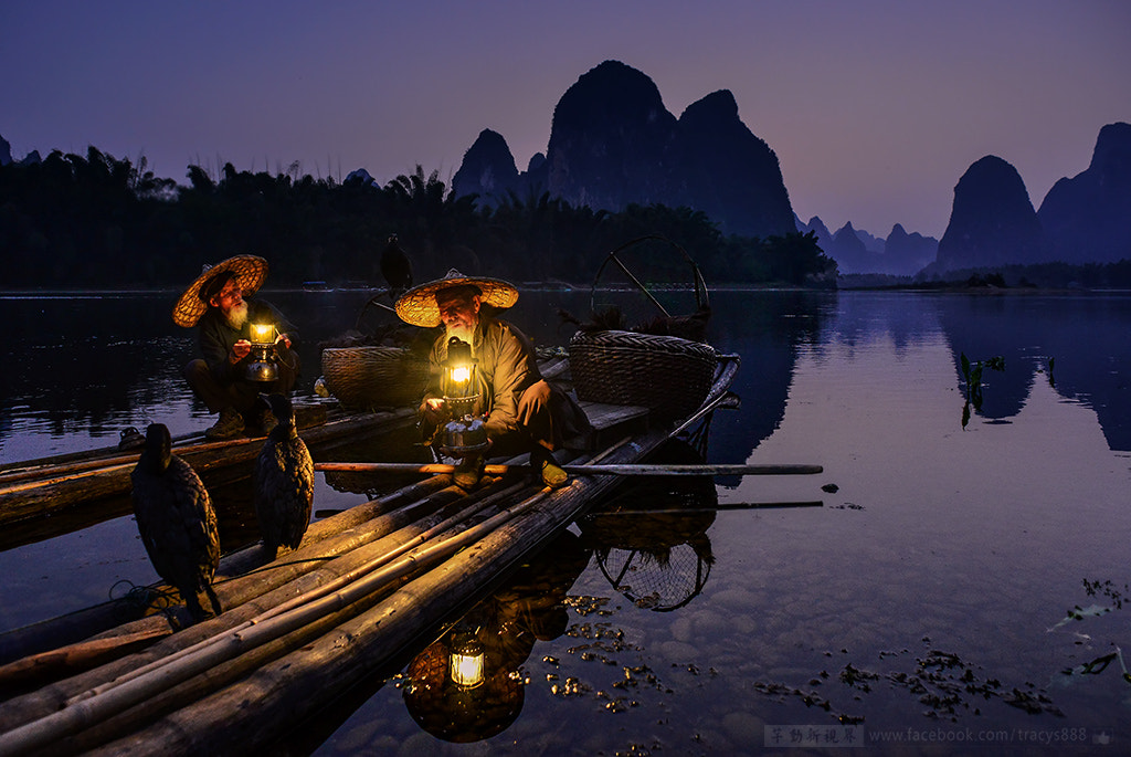 Photograph Fisherman。river flow by 芊芊 劉 on 500px
