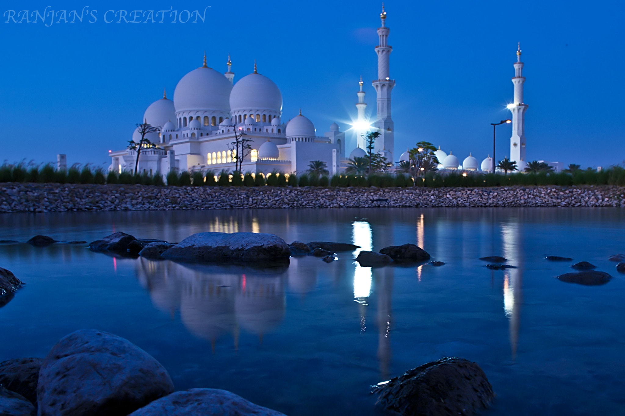 Photograph Grand Mosque Abu Dhabi...... by RANJAN SM on 500px
