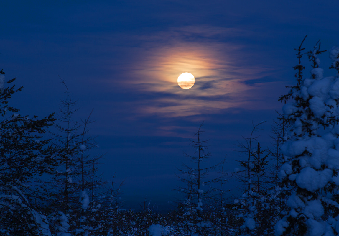 Photograph Lapland Moon by Lauri Tammik on 500px