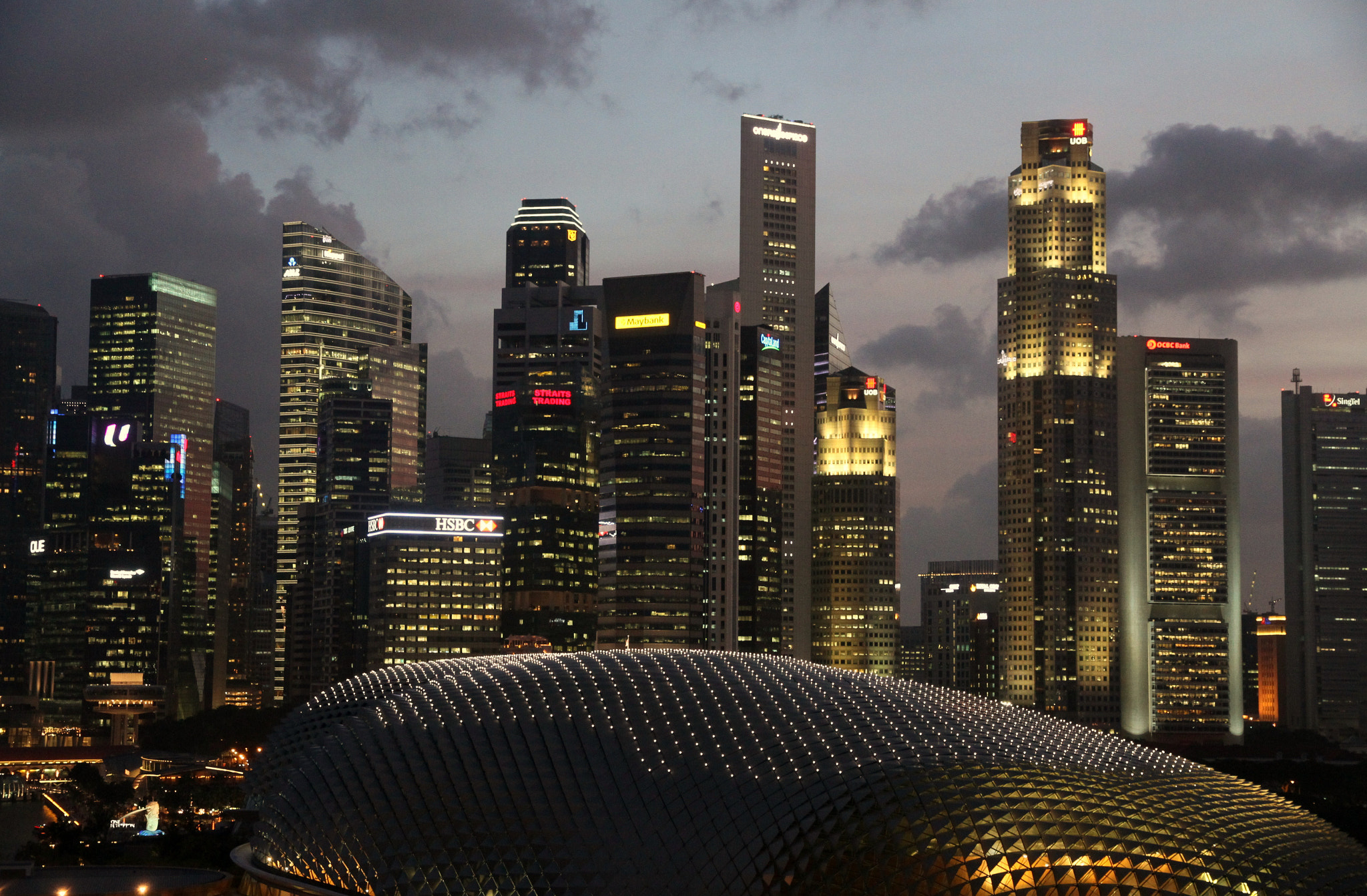 Photograph Raffles place in Singapore by THE TOKYO FOREST on 500px