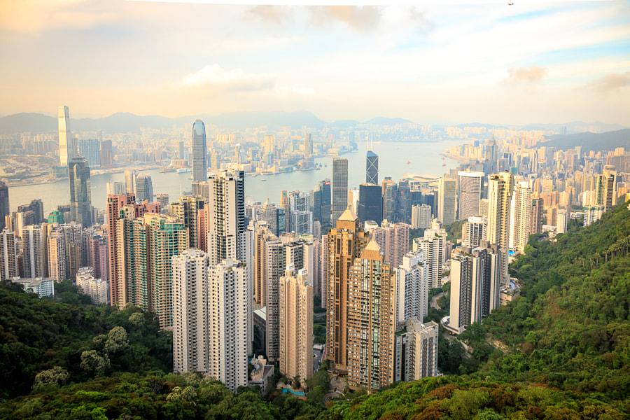 Hongkong Skyline, автор — Jan Rechenberg на 500px.com