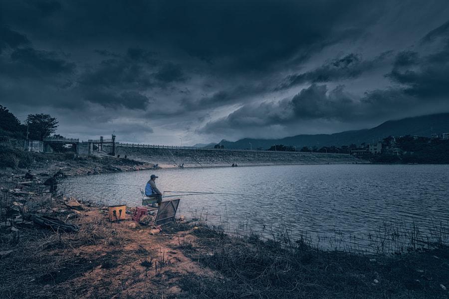《垂钓》拍摄于福州杨廷水库, автор — 野鸽  на 500px.com