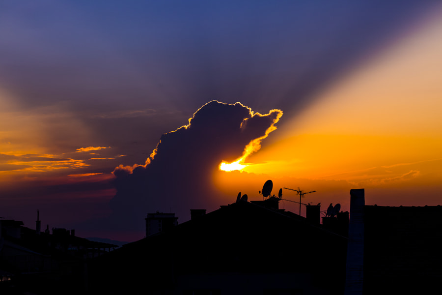city silhouette sunset, автор — Lord Ogeday Çelik на 500px.com