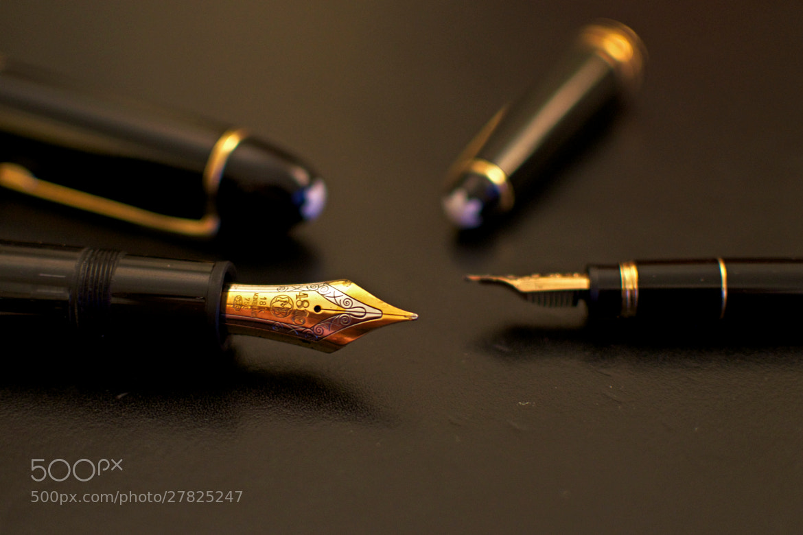 Photograph Montblanc fountain pens by Pierre Nouaille-Degorce on 500px