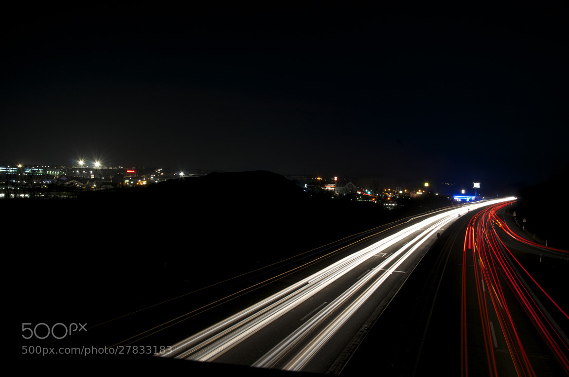 Photograph Highway at Night by Christian Lengert on 500px