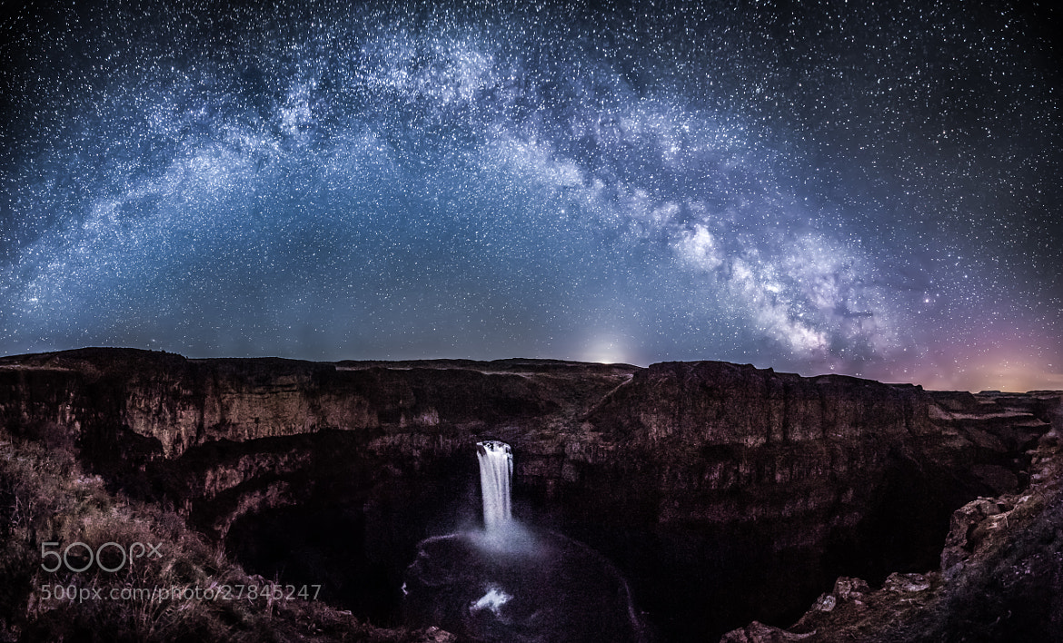 Photograph Milky Way arc over Palouse Falls in Washington State by Josh Tarr on 500px