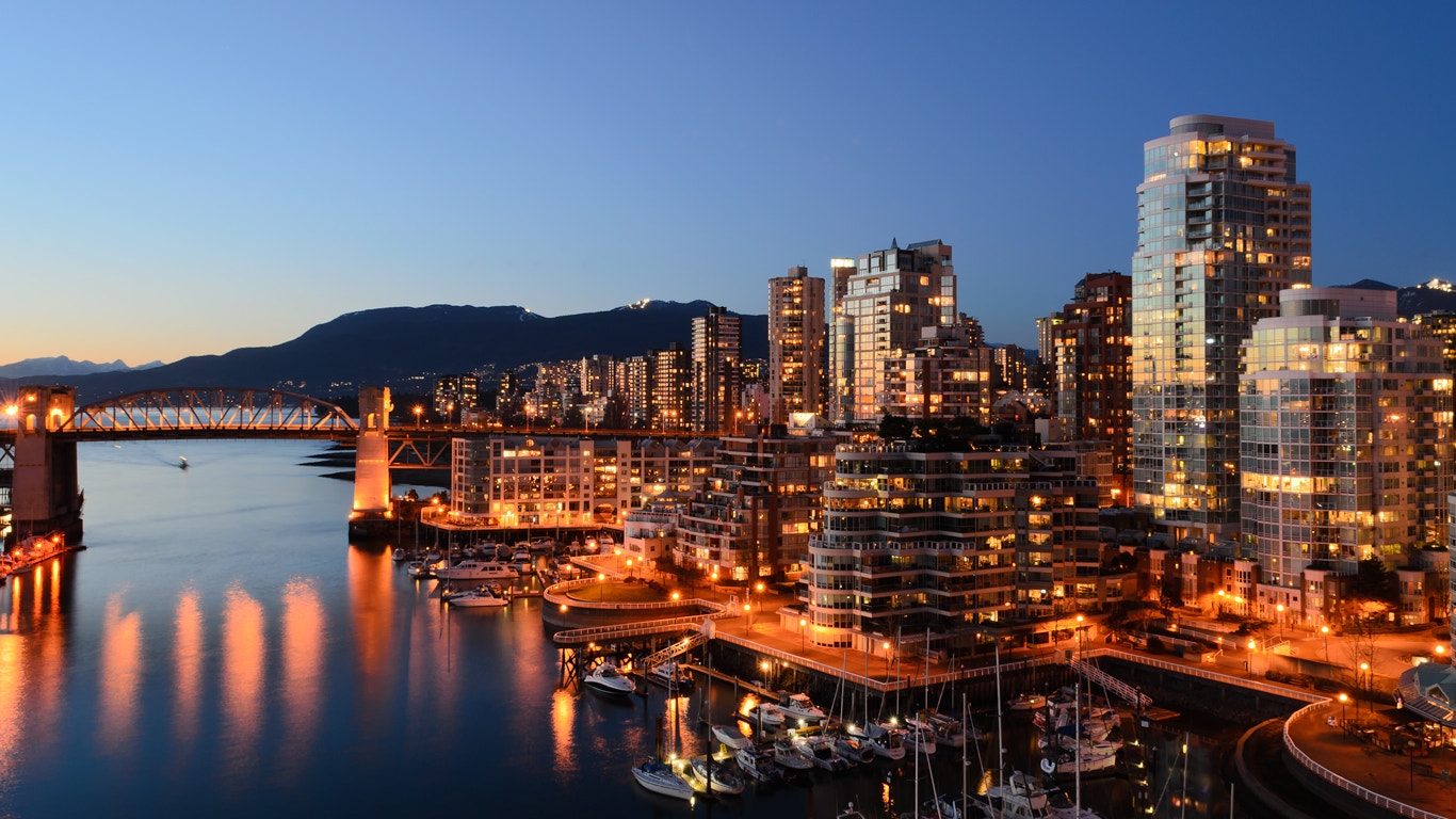 Photograph Yaletown and Burrard bridge at night by dohitsch on 500px