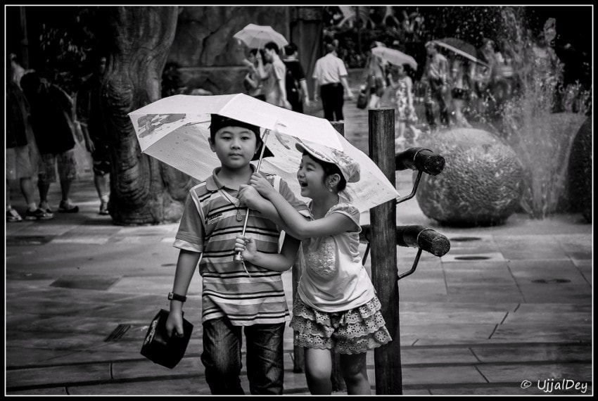 Photograph Kids in Rain by Ujjal Dey on 500px