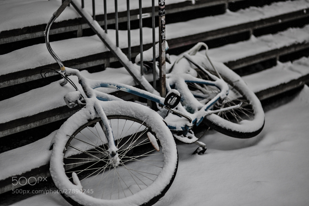 Photograph Lonely snowbike by Peter Klein on 500px