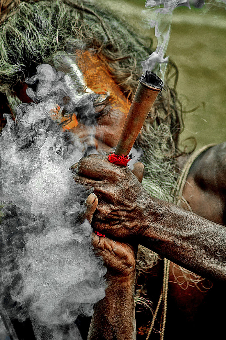 Photograph Marijuana Baba/ Saint by Samir Pradhananga on 500px