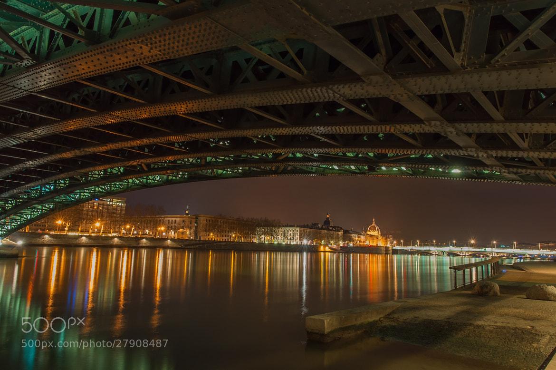 Photograph Lyon under bridges by serge vincent on 500px