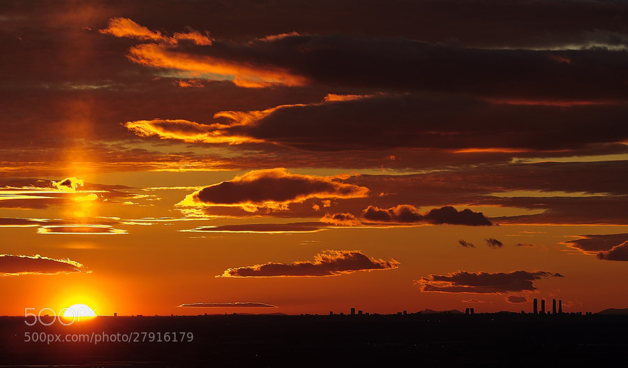 Photograph Sunset in Madrid by a_p_rodrigo . on 500px