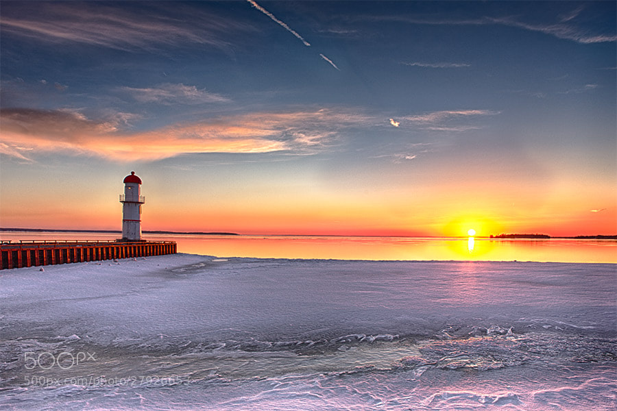Photograph lighthouse sunset by foh toh on 500px