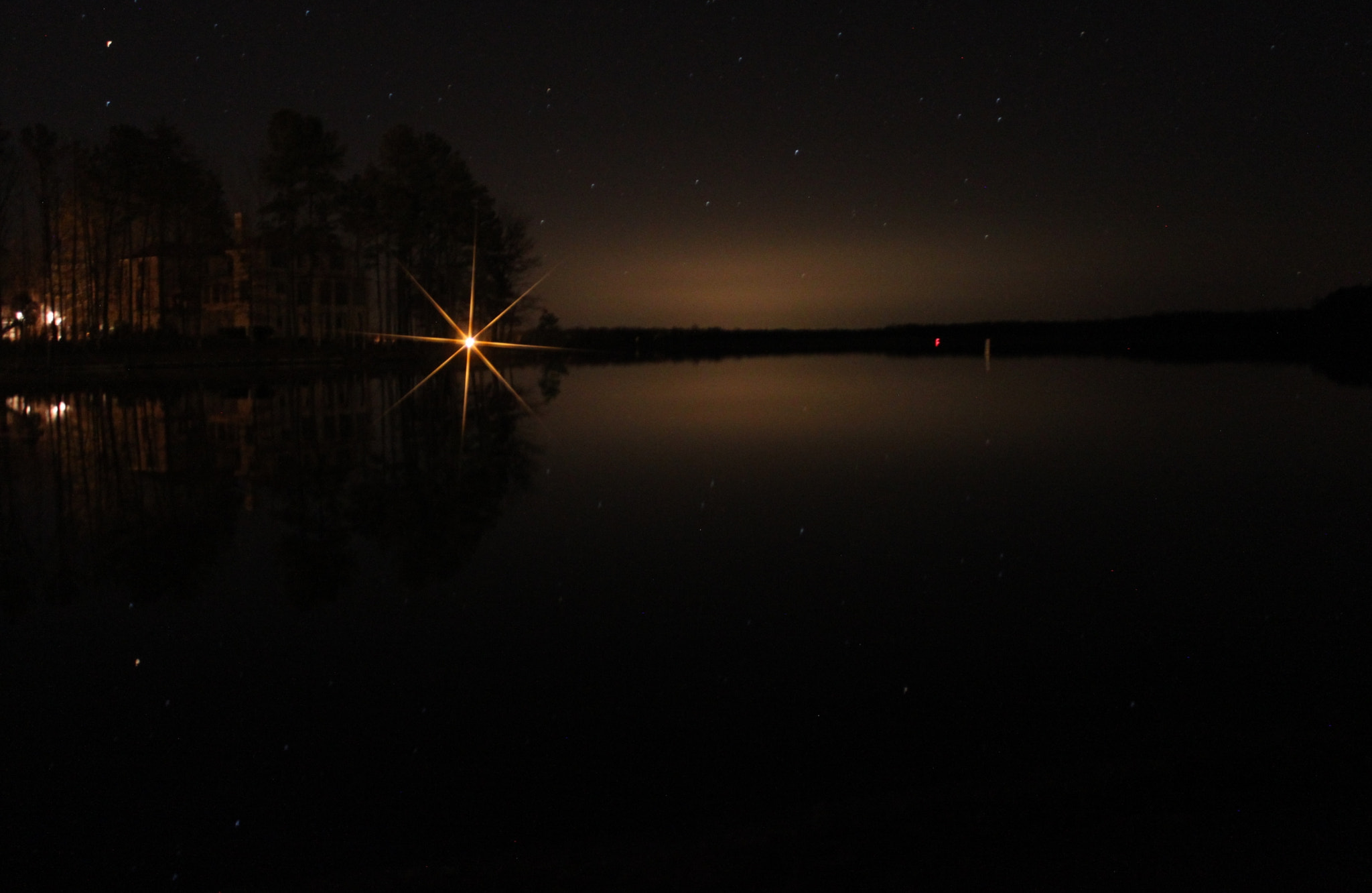 Photograph Tiny Stars across the Lake by Palmer Allen on 500px