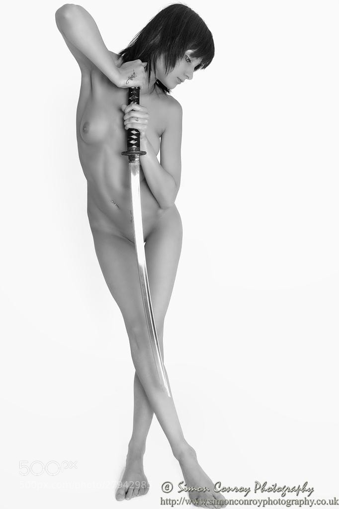 Photograph Nude with Samurai Sword by Simon Conroy on 500px