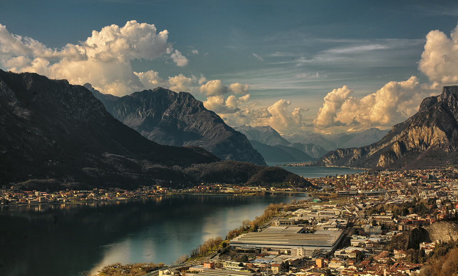 Photograph sun kissed Como lake by FeFoPhotography  on 500px