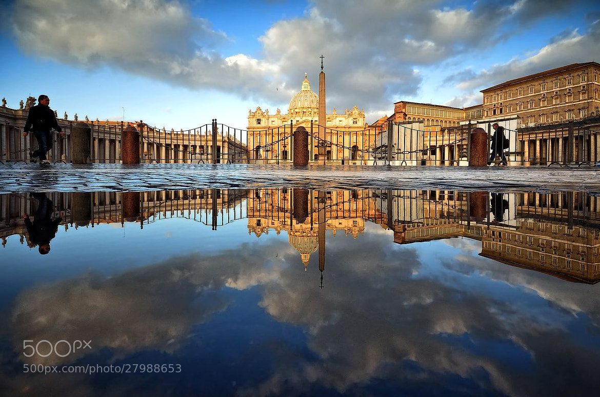 Photograph St. Peter's reflection II by Daniele Forestiere on 500px