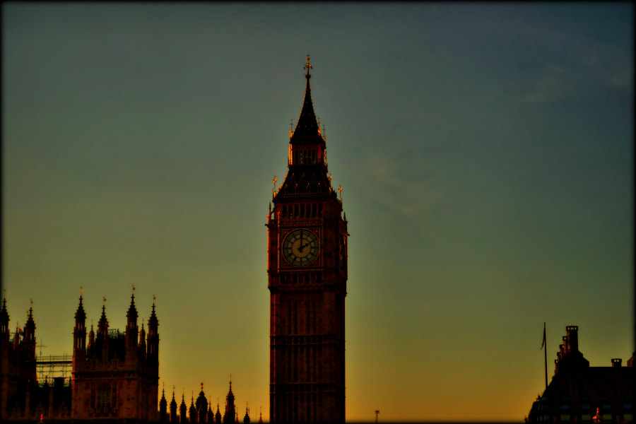 Photograph sunset over Big ben  by chrissie  J on 500px