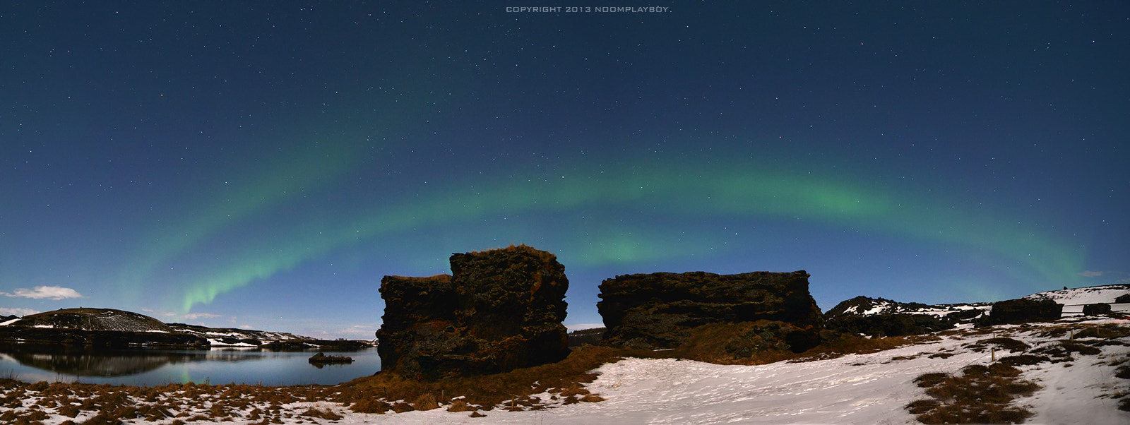 Photograph Aurora_Panorama @ Iceland by noomplayboy  on 500px