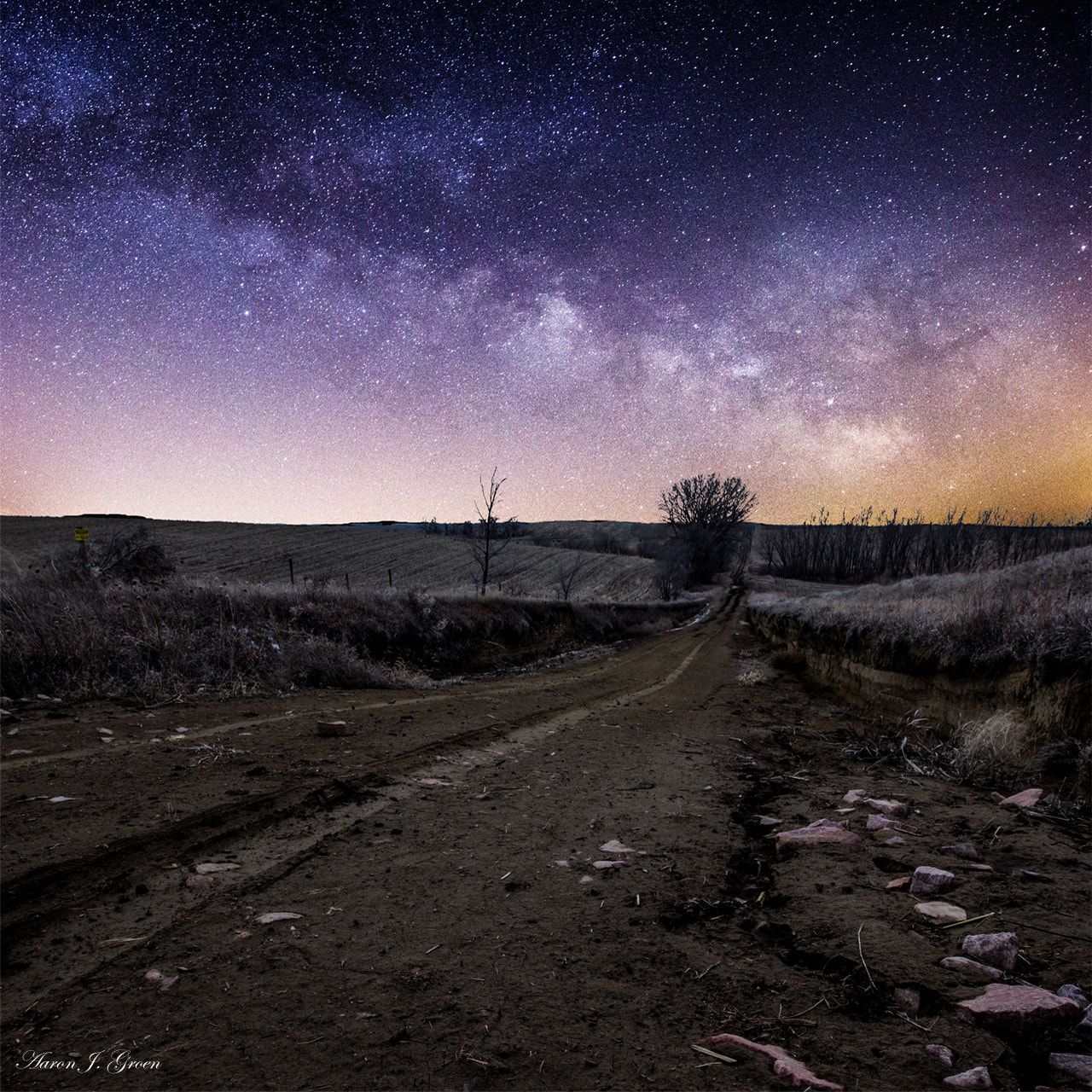 Photograph Night on a Dirt Road by Aaron J. Groen on 500px