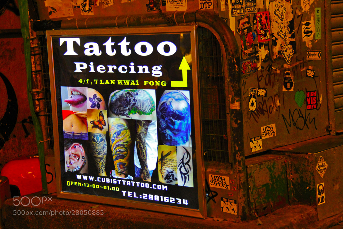 Photograph Tattoo & Piercing Commercial@Lan Kwai Fong - HONG KONG by sharon ang on 500px