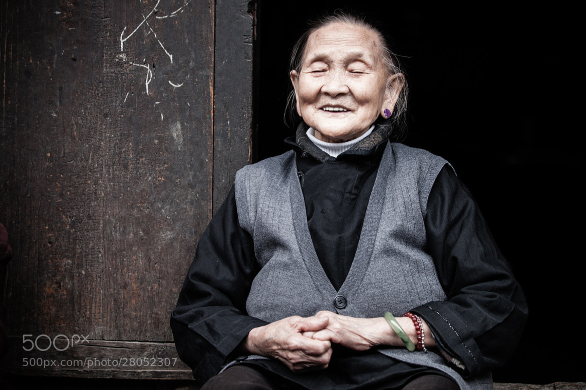 Photograph The happy grandma by Philippe CAP on 500px